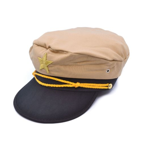 Officer Hat Military Sailor Soldier Gentlemen Fancy Dress Accessory